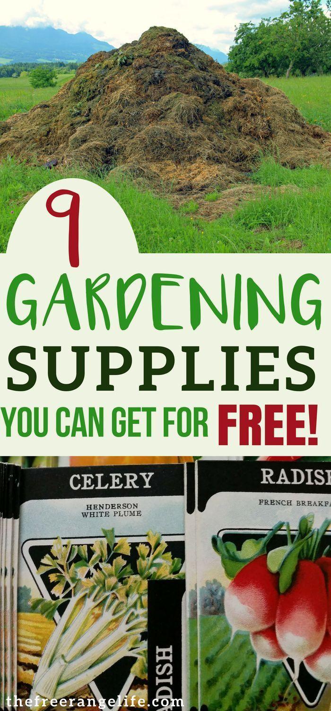 9 Gardening Supplies You Can Get For Free   Gardens, Organic Gardening And  Organic Ideas