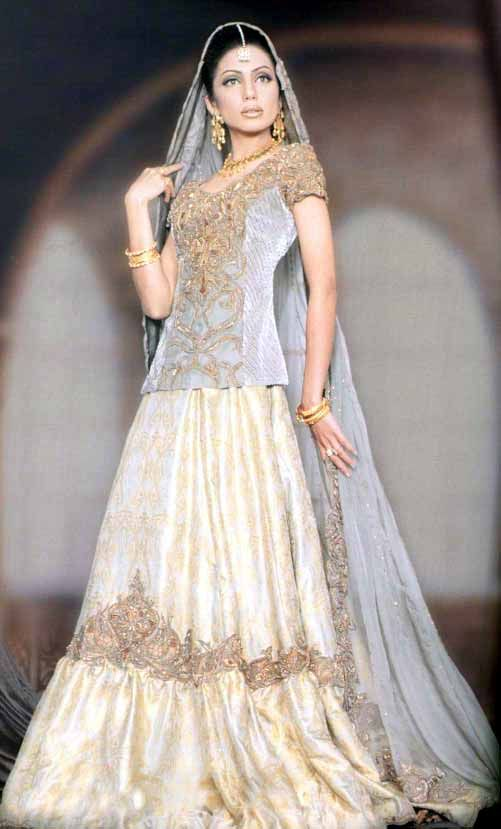 White Colored Indian Bridal Dresses