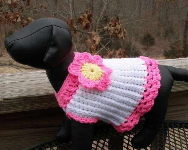Abrigos de ganchillo para perros: Fotos de ideas - Modelo de abrigo ...