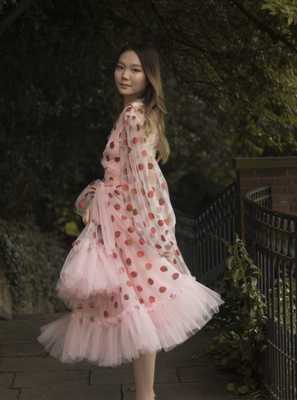 Erdbeertull Kleid Strawberry Girl Etsy In 2020 Tulle Dress Dresses Calf Length Midi Dress [ 3000 x 2232 Pixel ]