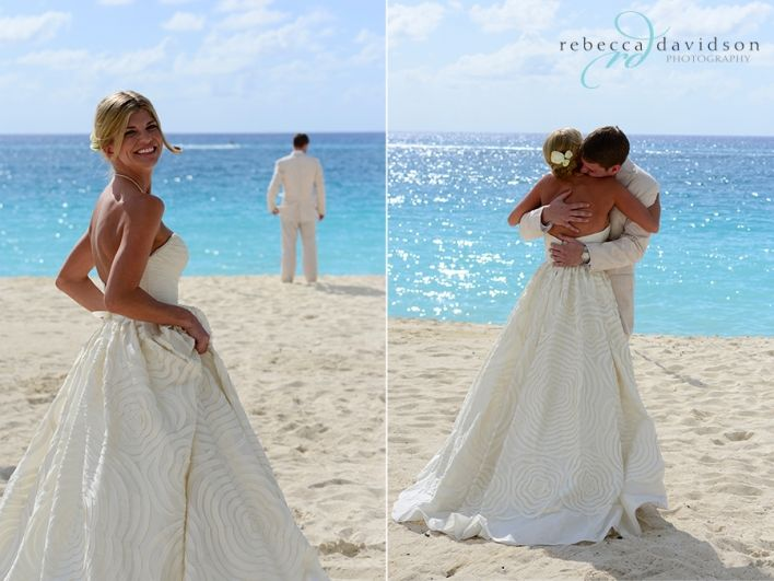 """Cayman Island Wedding Ritzy I Dos: Sweet """"first Look"""" On Seven Mile Beach"""