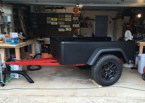 Roll-on bedliner is a good way to coat fiberglass and plywood. Here Wes has…