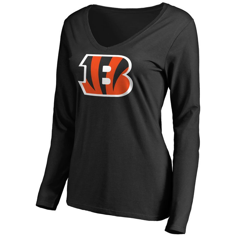 d1f93270 cincinnati bengals team logo long sleeve nfl t shirt black