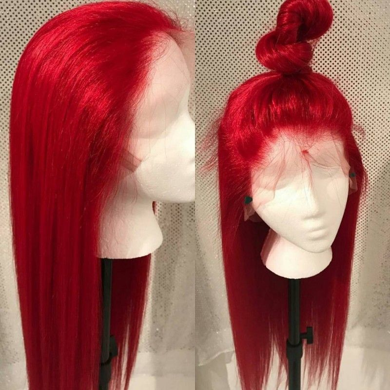 Brazilian virgin silk straight red color 360 frontal lace wig  HT696  - Bea  Hairs 4aa5d5a6a3