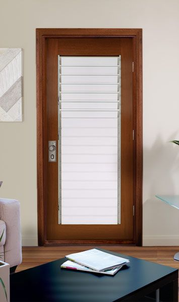 Glass Louvre Door With Timber Frame For Main Bedroom Louvres