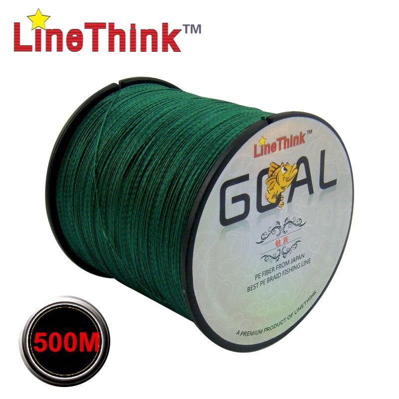 500M Brand LineThink GOAL Japan Multifilament 100% PE Braided Fishing Line 6LB to 120LB Free Shipping