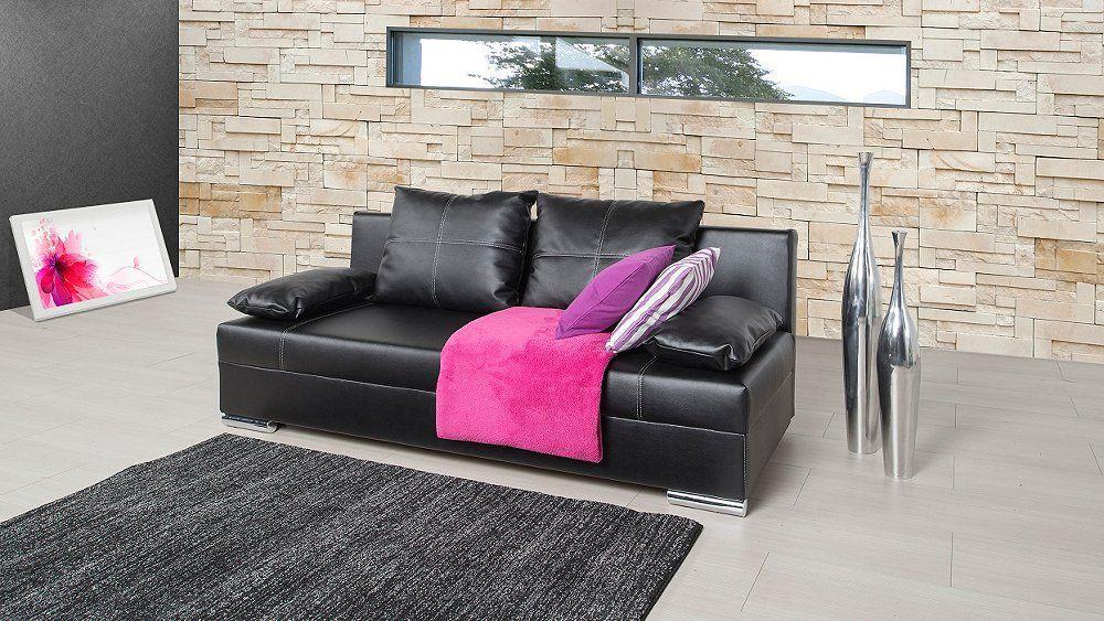 Funktionssofa Almaro In Eleganter Lederoptik Bed Sofa Wohnen