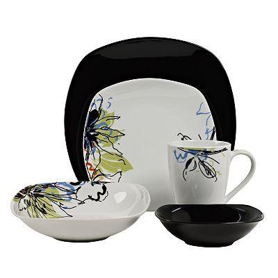 Tabletops Gallery Monet 20-pc. Square Dinnerware Set  sc 1 st  Pinterest & Tabletops Gallery Monet 20-pc. Square Dinnerware Set | Wants ...