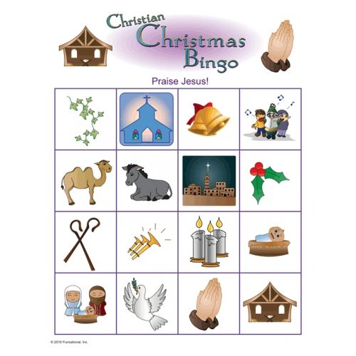 Christmas gift exchange game nativity images