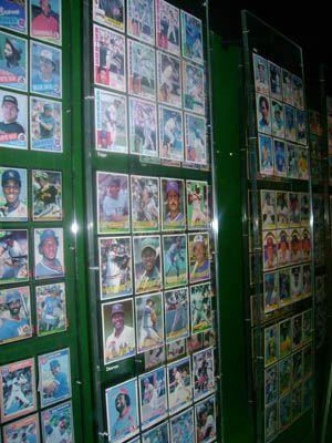 Wall Of Baseball Cards