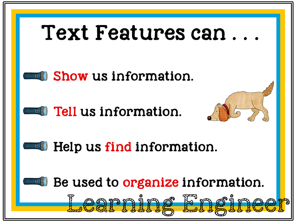 Nonfiction Text Features - Clues to Understanding the Text
