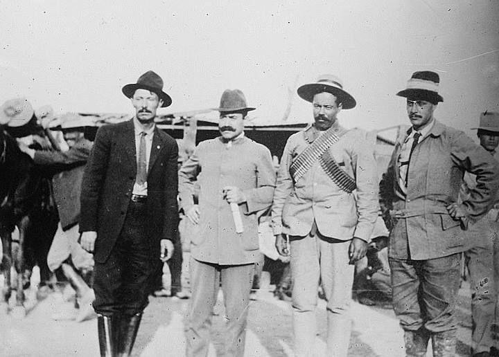 Peppino Garibaldi con Orozco, Braniff e Villa #storia #personaggi #mexico #politica