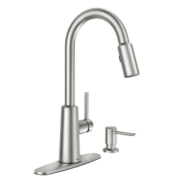 Nori Spot Resist Stainless One Handle High Arc Pulldown Kitchen