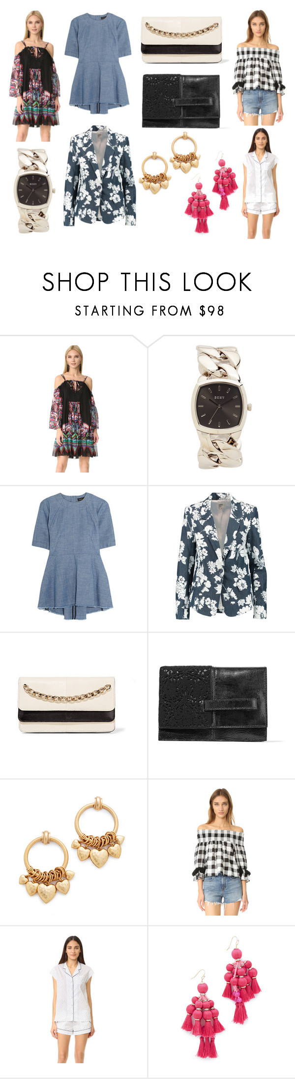 """""""Support Fashion"""" by donna-wang1 ❤ liked on Polyvore featuring Roberto Cavalli, DKNY, Proenza Schouler, L'Agence, Valentino, Elizabeth Cole, Misa, Three J NYC and Kate Spade"""