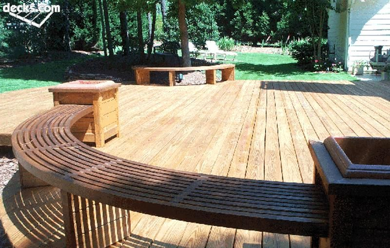 Building a round or curved deck backyard for Building a composite deck