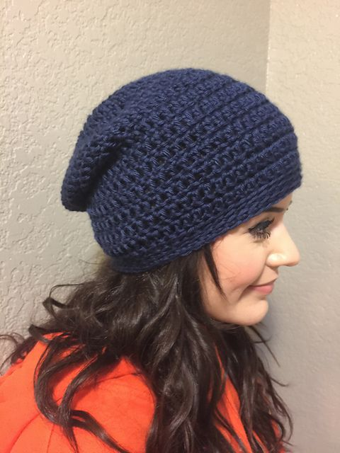 Ravelry Project Gallery For Simple Slouch Hat Pattern By Alexis