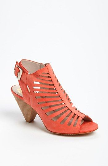 10ae2c87f I don t know which color of these Vince Camuto booties sandals I like  better - the coral