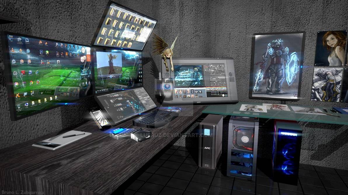 Digital art workstation 2 by lubruz on deviantart