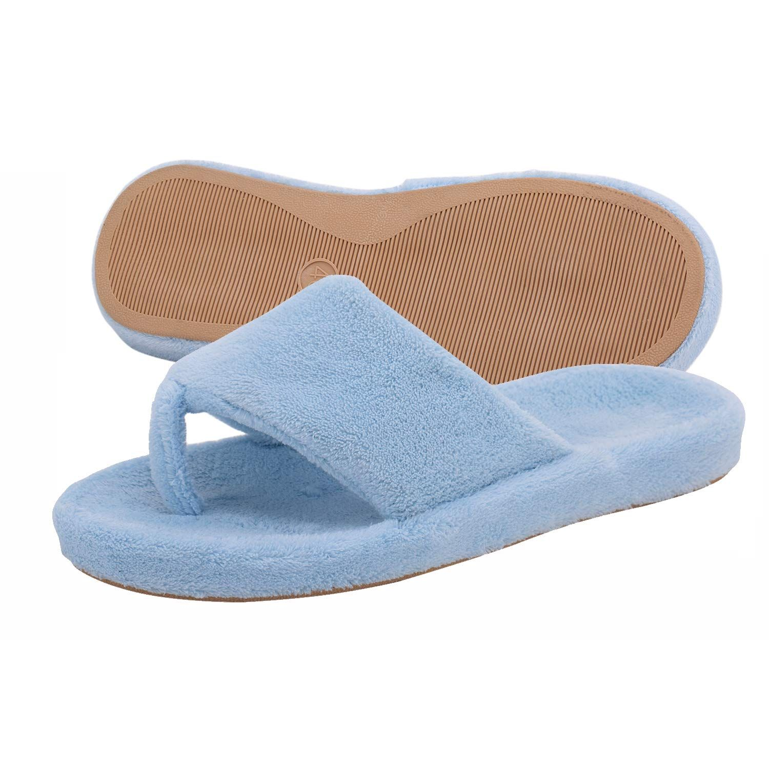 Women/'s House Slippers Slip-On Anti-Skid Indoor Casual Shoes Snow Flip Flops New