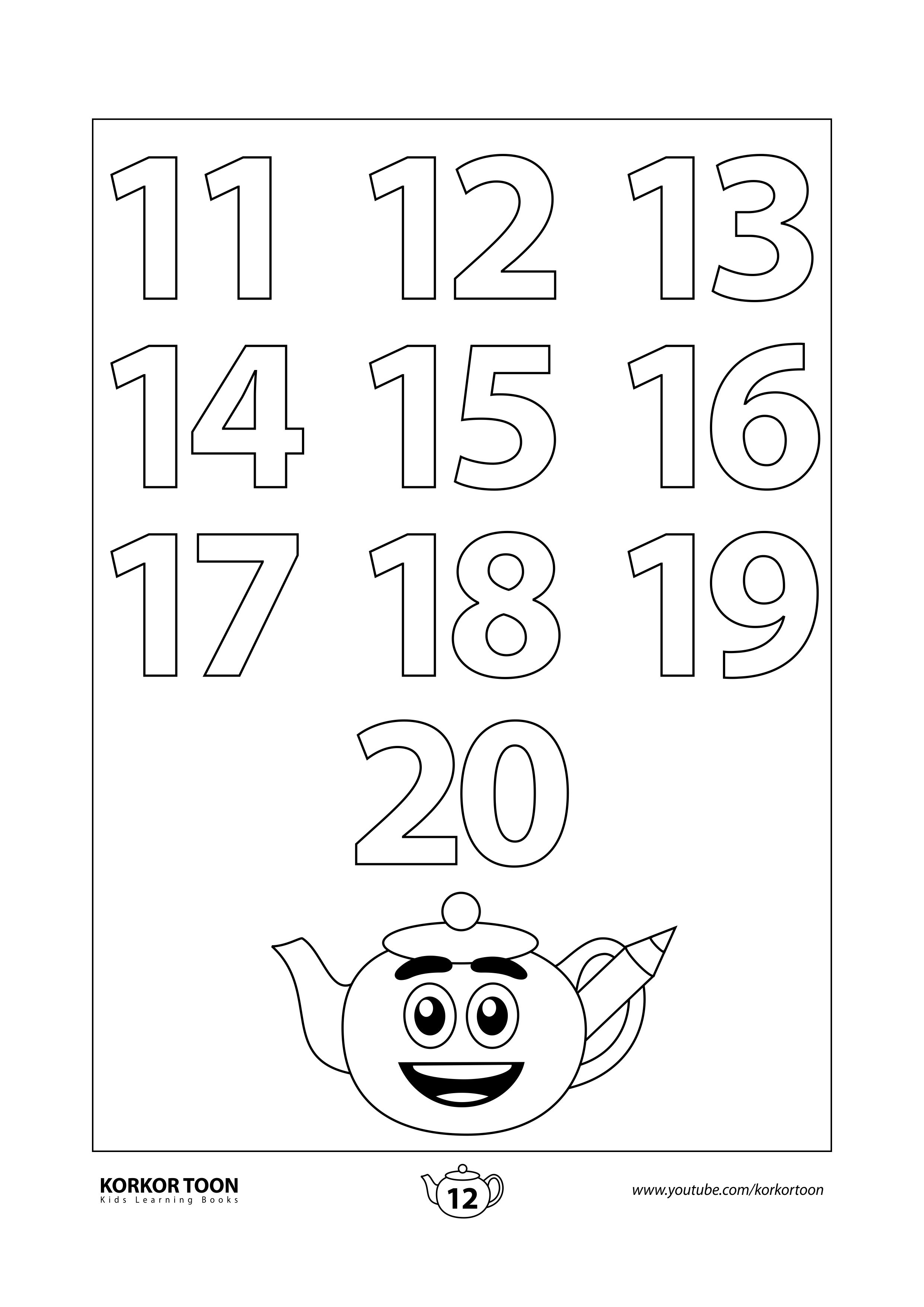Numbers Coloring Book For Kids Page 12 Coloring Books Kids Pages Printables Free Kids