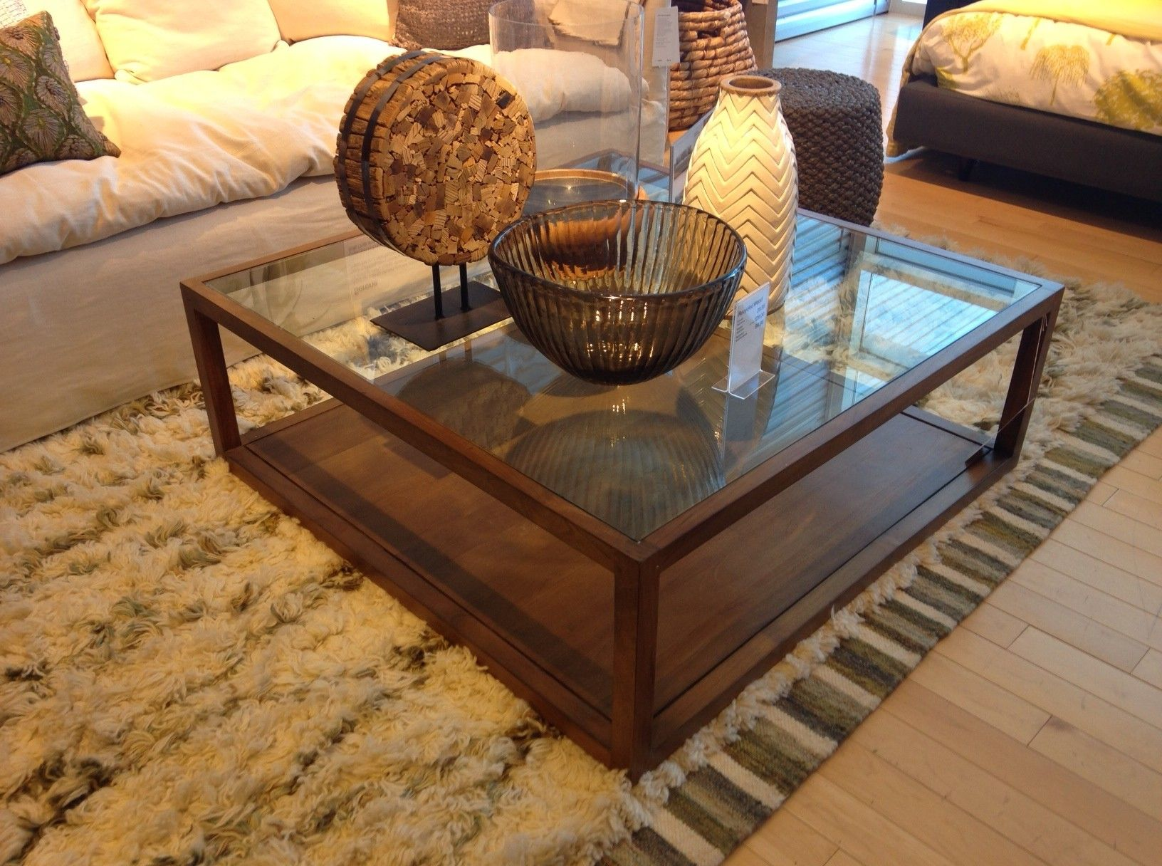 Crate and barrel square glass coffee table coffee table