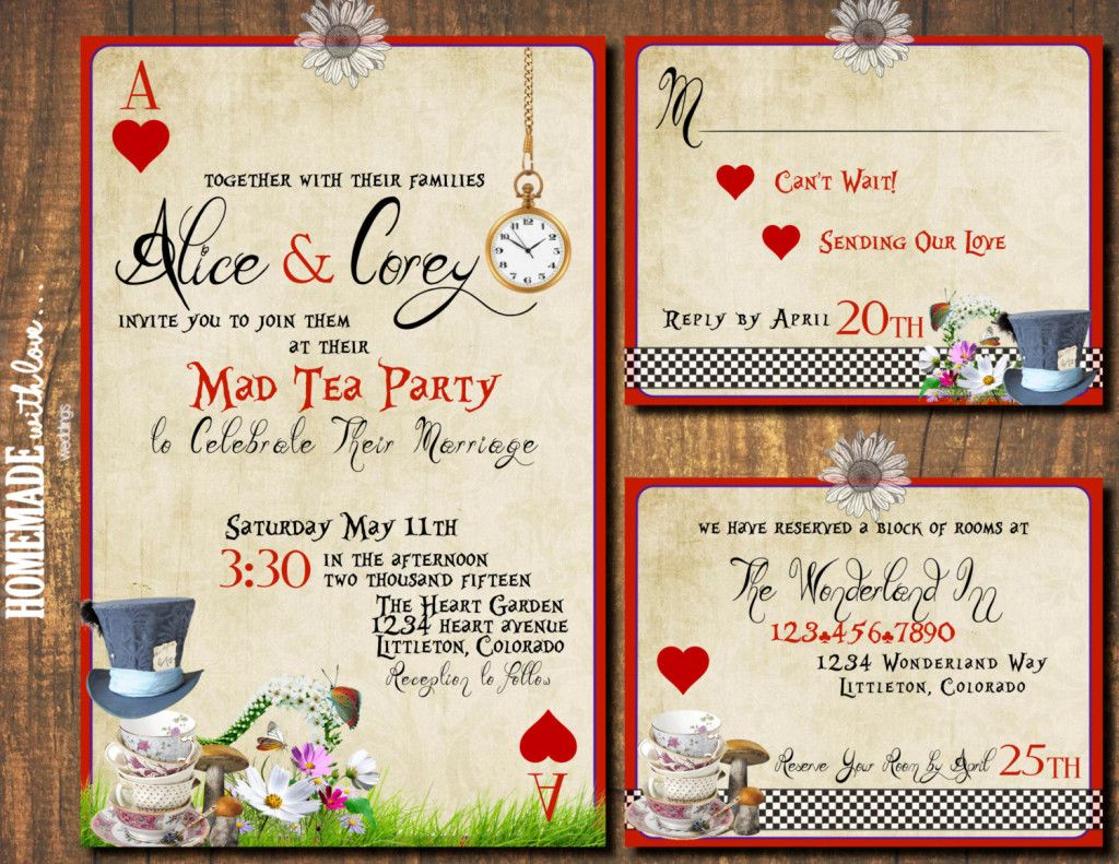 20 DIY Alice in Wonderland Tea Party Wedding Ideas & Inspiration ...