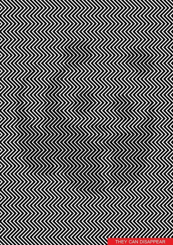 Can You Find The Hidden Panda In This Zig Zag Optical Illusion - Fascinating optical illusion disguises 12 black dots right in front of you