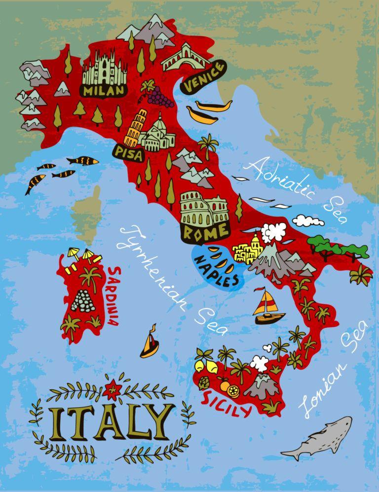 Italian Phrases For Travel Italy Map Italian Phrases Travel