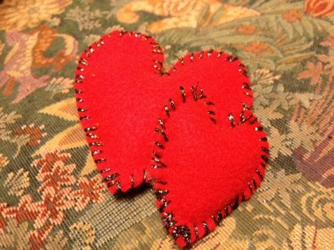 Little tiny heart pillows