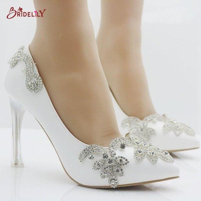 Fashion Rhinestone Pumps Heels Wedding Pumps | Bridelily
