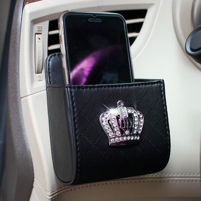 Bling Crown Car Accessory-Air Vent Mounted Sunglasses cell phone ...