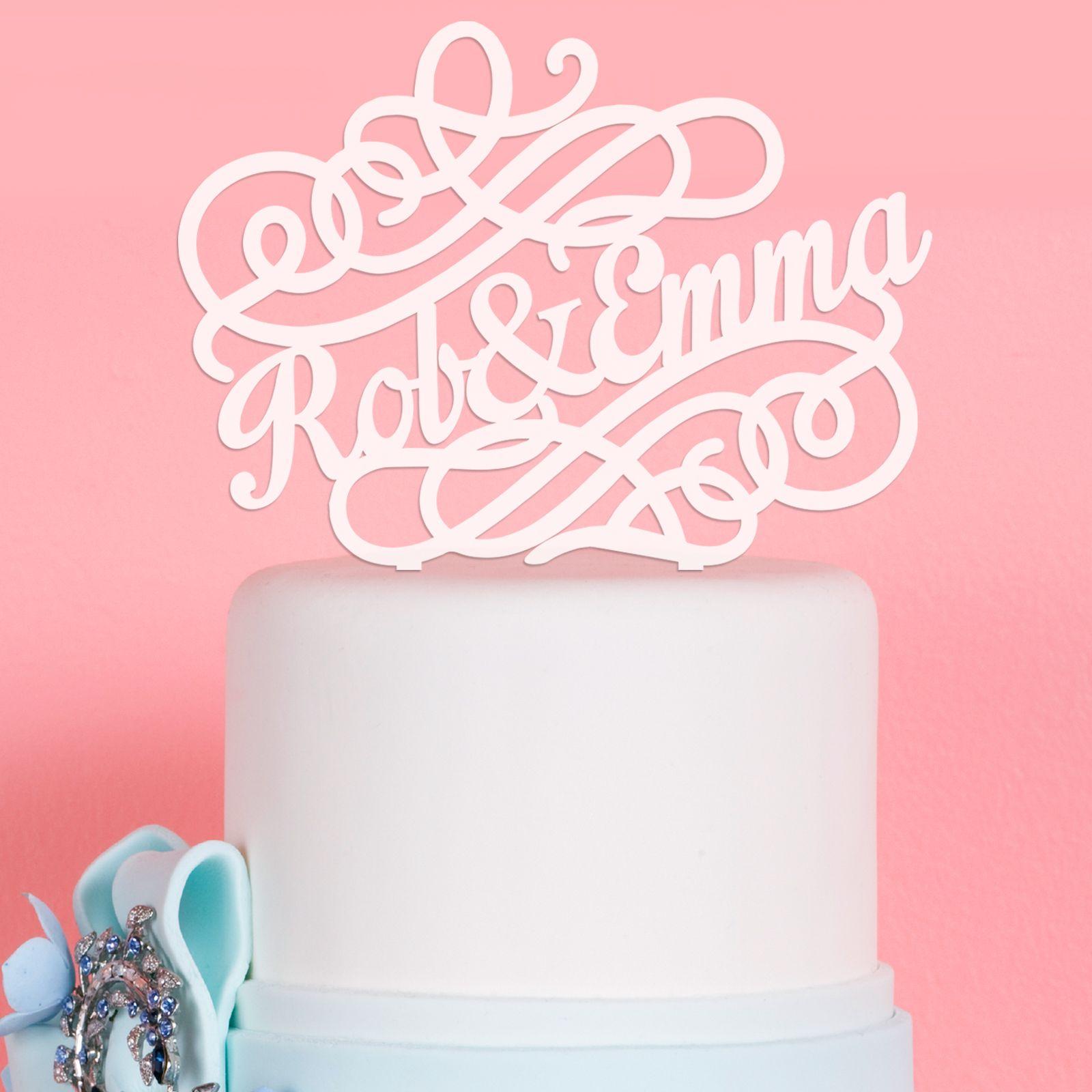 Swirl Acrylic Wedding Cake Topper | Wedding Cake Toppers | Pinterest ...