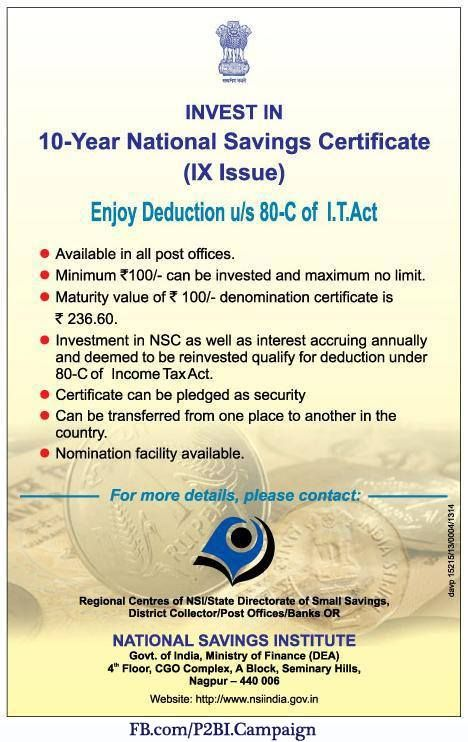 National saving Certificate | ProudIndians | Pinterest