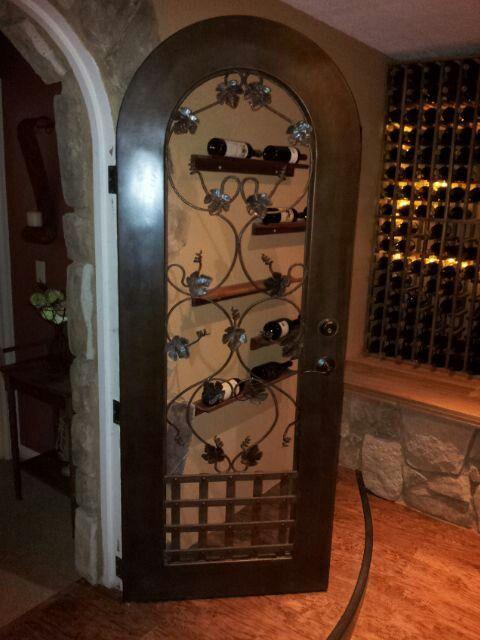Metal Wine cellar door by Macu0027s Custom Creations & Metal Wine cellar door by Macu0027s Custom Creations | My work ...