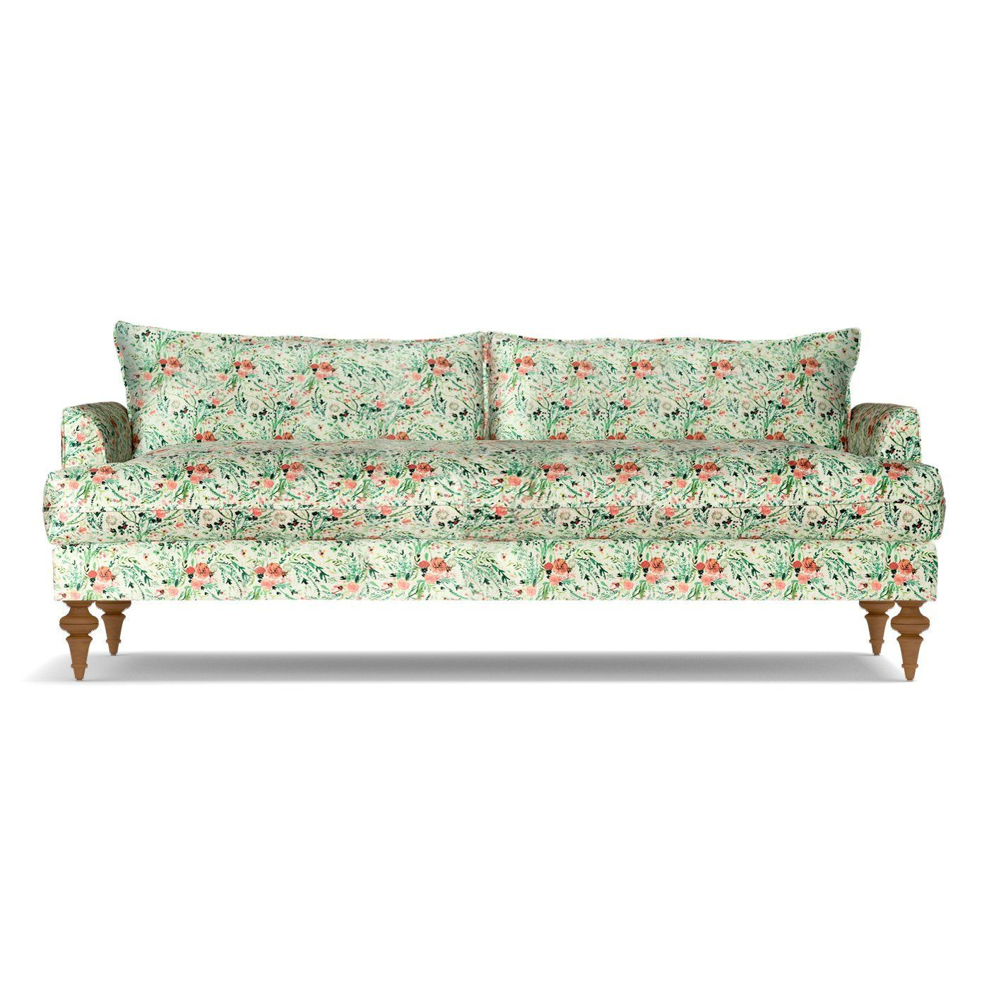 Saxon Sofa In Bloom Apt2b Apartment Size Sofa Furniture Sofa