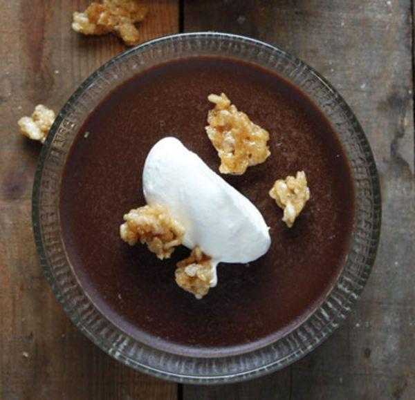 Ovaltine Pudding with Honeyed Rice Krispies Recipe ...