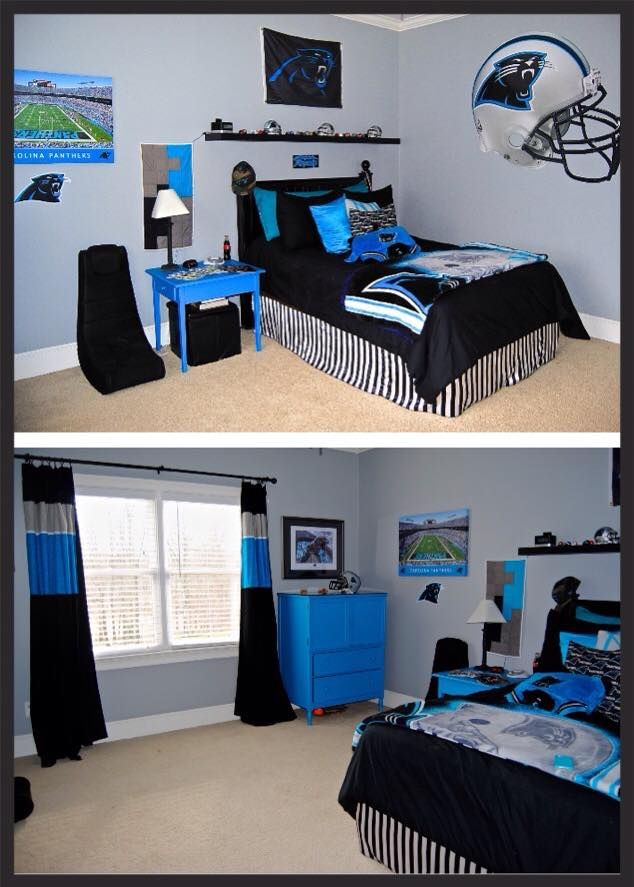 Carolina Panthers bedroom  My Home Projects  Boys