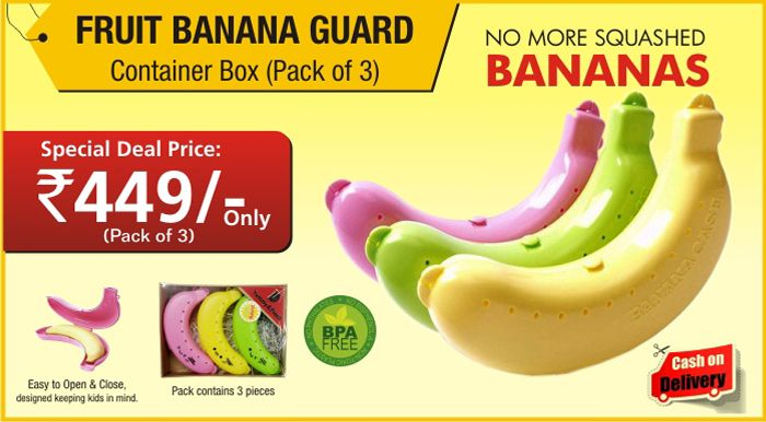 Fruit Banana Guard Food Storage Case Cover Container Box (Pack Of 3) Http: