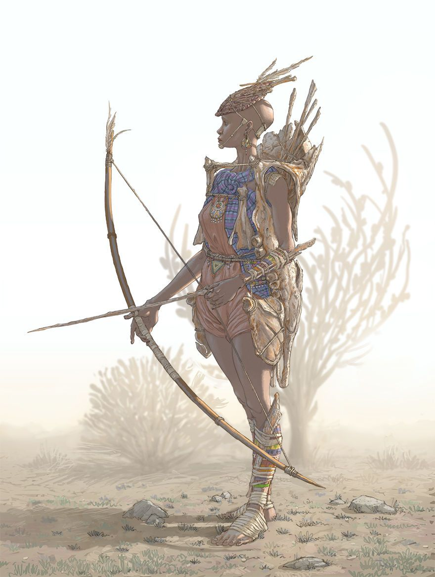 Masai Warrior by Hendrik Visser
