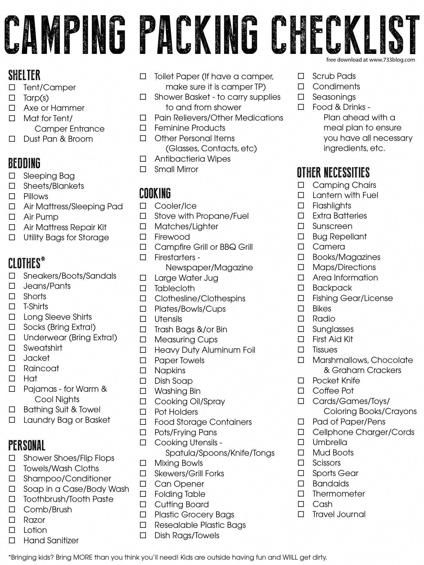 camping supplies in 2020   Camping supply list, Camping