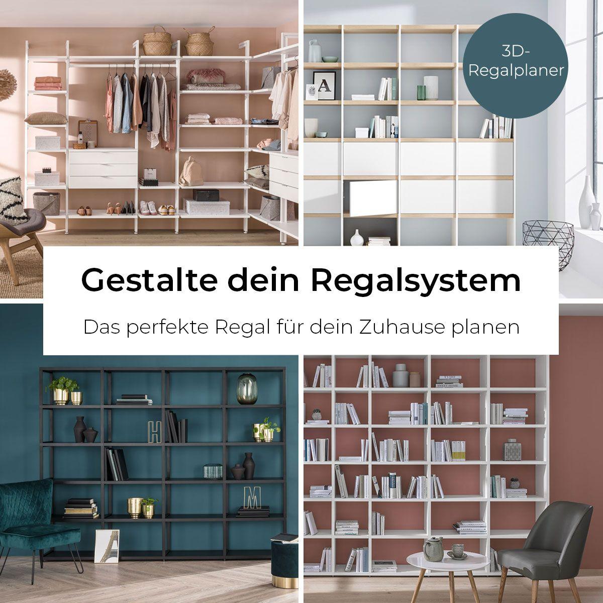 Gestalte dein perfektes Regalsystem - für Wohnzimmer