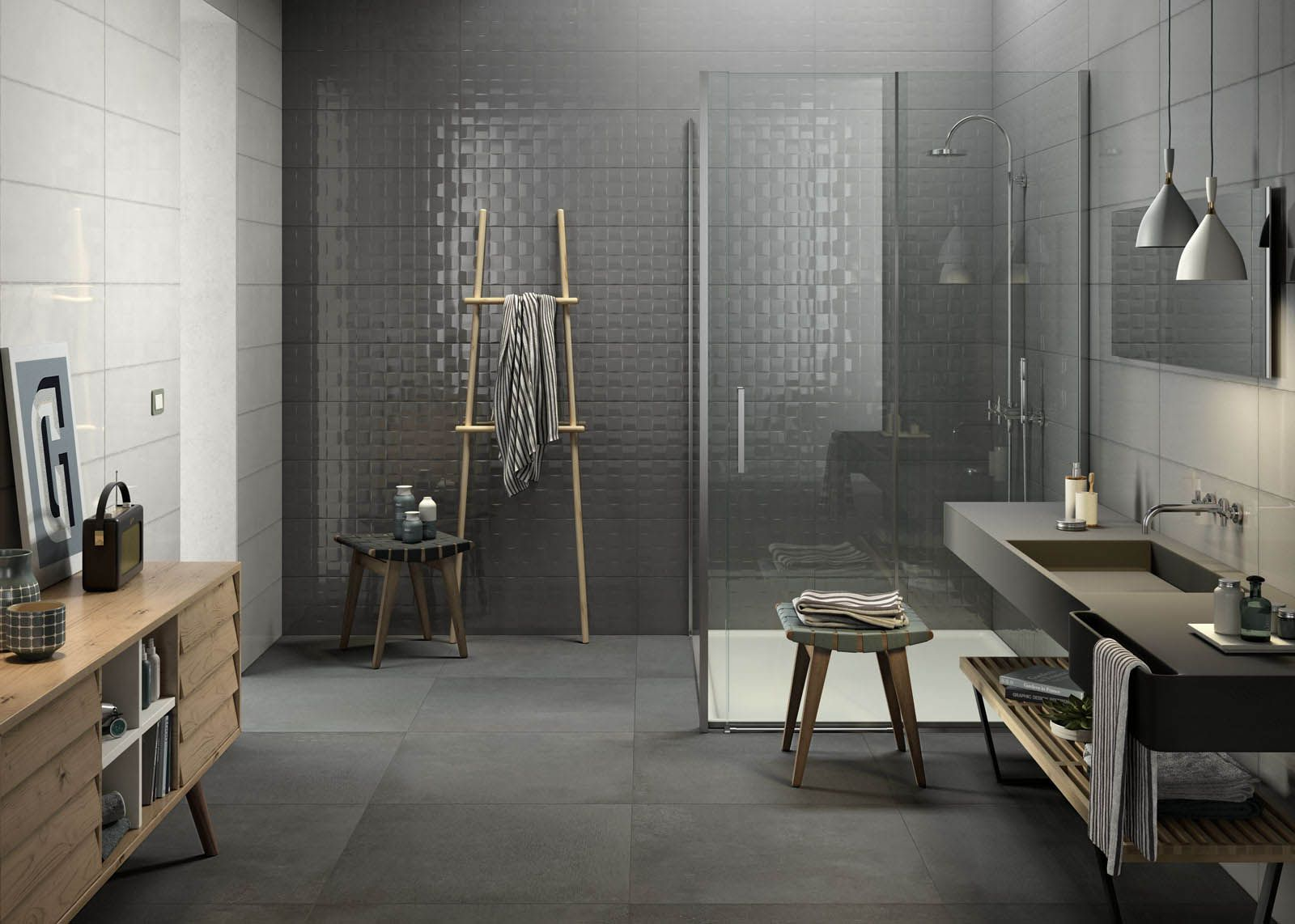 Salle De Bain Lavabo Noir ~ Pottery Shining Glaze In 7 Different Colours For A Vibrant Wall