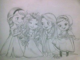 Little in Grown up Dresses by NicoleBalcom