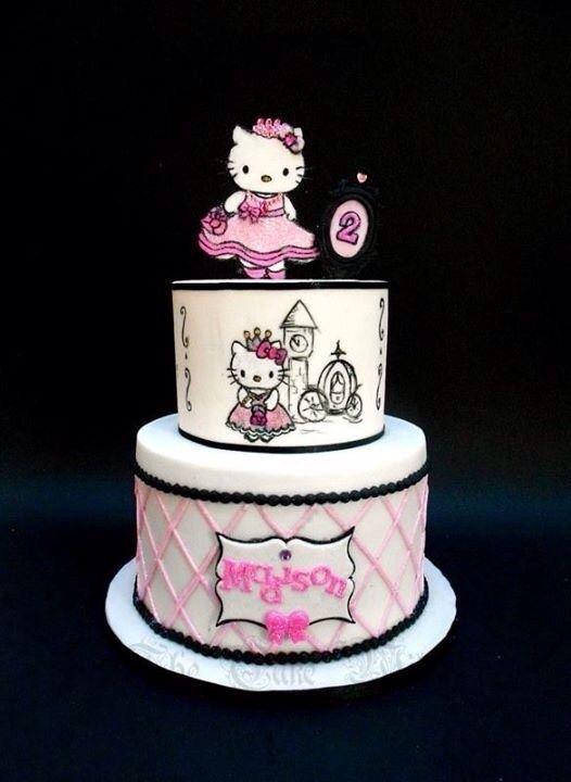 Hello Kitty Disney Princess Fondant Cake | Hello kitty ...