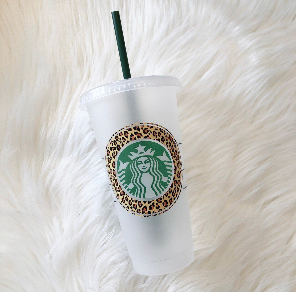 Excited To Share This Item From My Etsy Shop Leopard Print Starbucks Reusable Cold Cup Starbucks Tu Starbucks Coffee Cup Starbucks Cups Custom Starbucks Cup