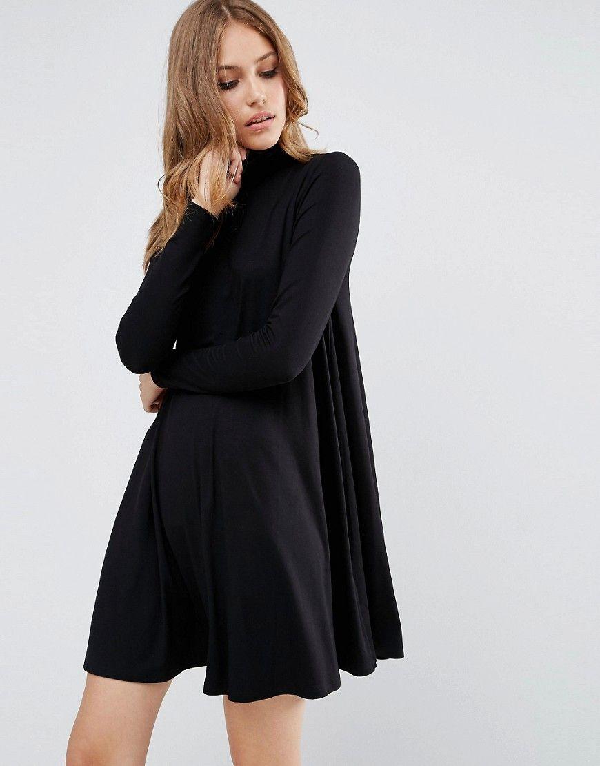 Asos swing dress with polo neck yoga clothes pinterest polo
