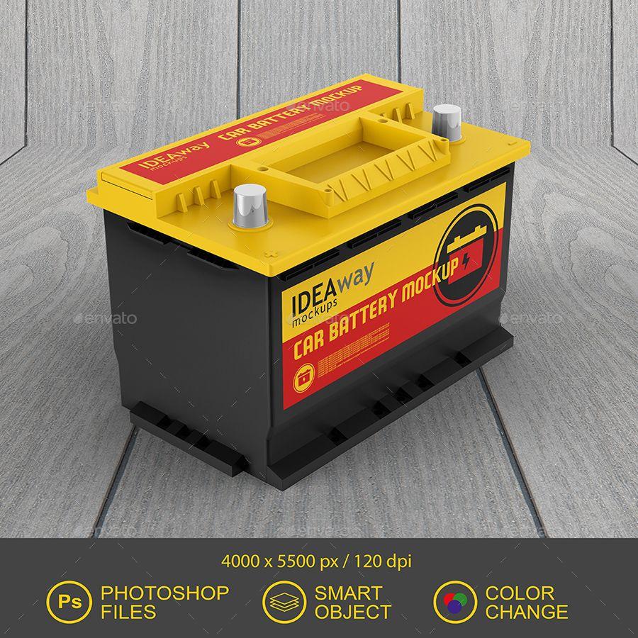 Car Battery Mockup Car Battery Mockup Design Design