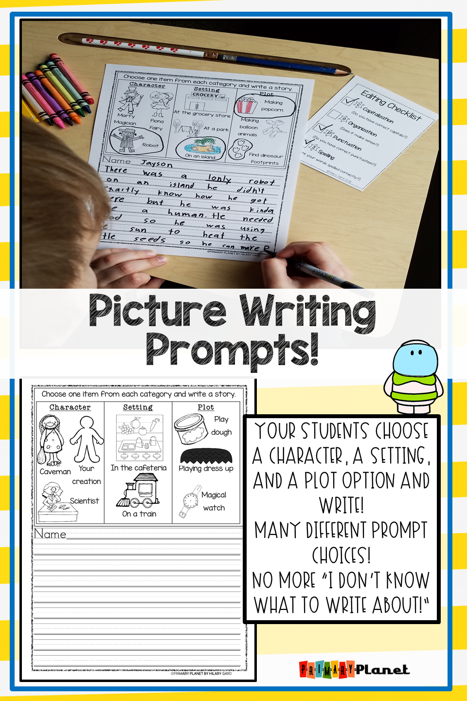 These Fun Imaginative Picture Writing Prompts For Elementary Students Are Prin Elementary Writing Prompts Picture Writing Prompts Kindergarten Writing Prompts [ 1440 x 960 Pixel ]