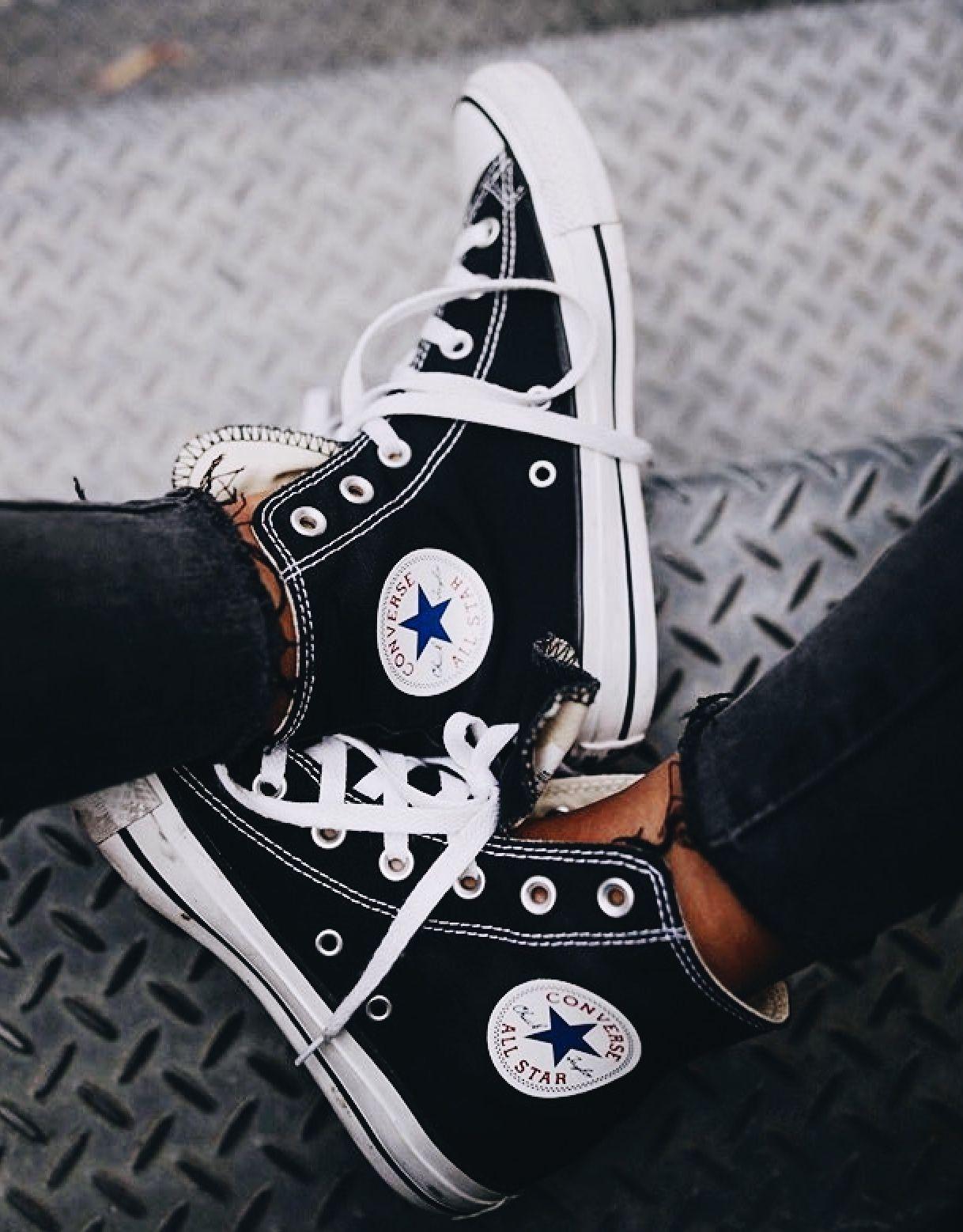 f95868be51e pin | bellaxlovee ☆ Black Converse, Outfits With Converse, Converse Sneakers,  Converse