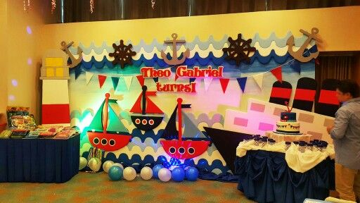Nautical Themed Styro Stage Backdrop Nautical Party In